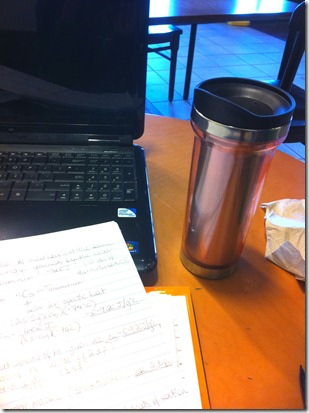 Cafe and homework